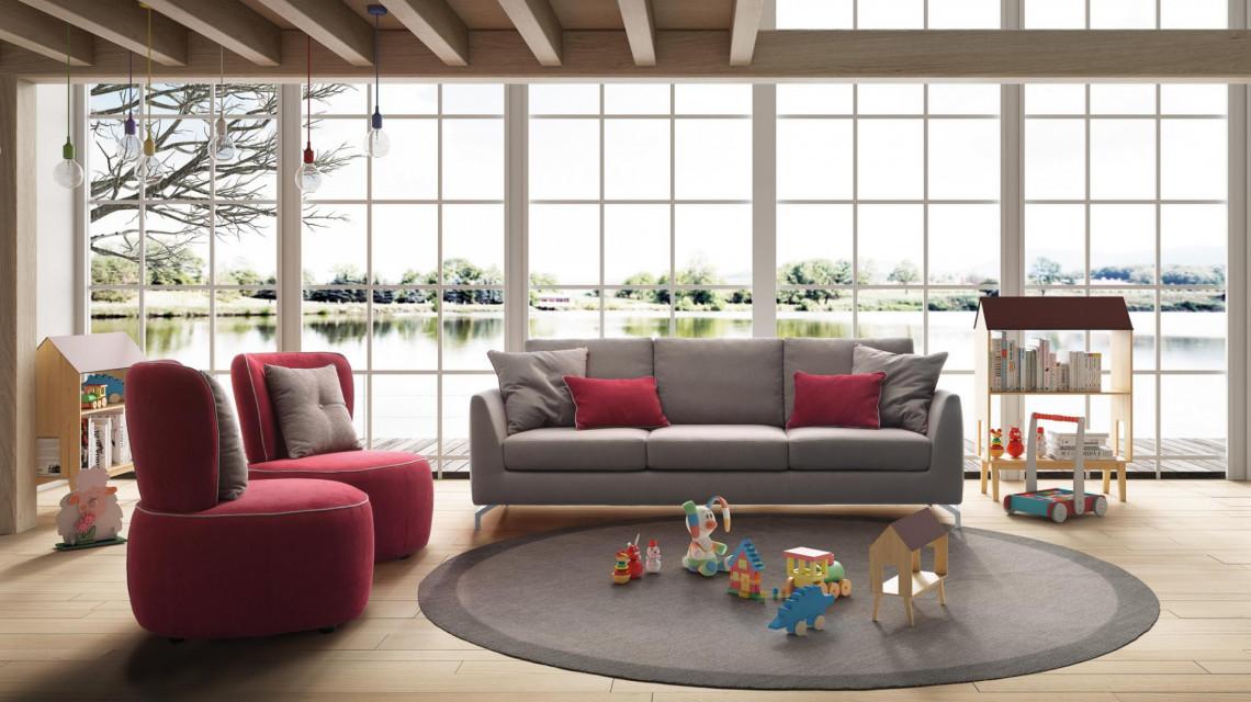 Divano slim 3 for Divani sofa varese
