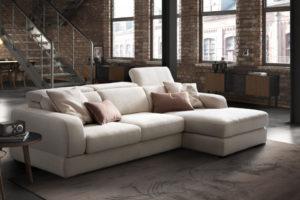 divano con penisola; divano moderno; via tiburtina