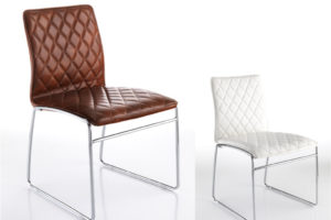 sedia moderna; sedia ecopelle, sedia trapuntata
