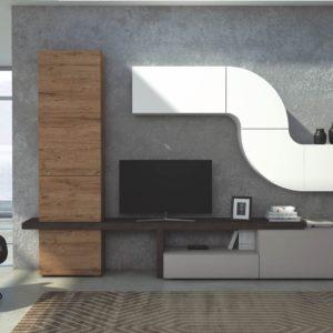 soggiorno moderno; parete soggiorno curva; elementi curvi