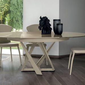 tavolo moderno; tavolo tondo allungabile