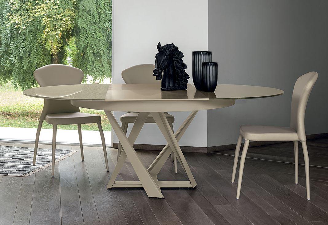 Novit tavolo domus tondo estensibile paoletti mobili for Tavolo tondo estensibile