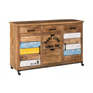 madia industriale, credenza industrial