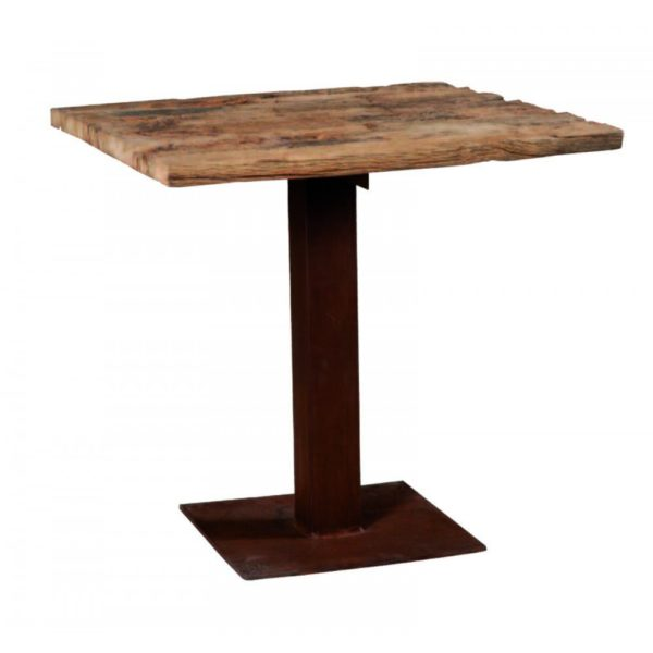 tavolino bistrot ruggine e legno vecchio