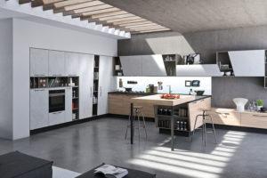 cucina moderna, cucina con penisola