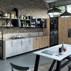 Cucina industriale; cucina contemporanea