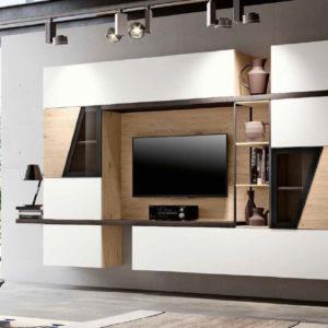 Soggiorno minimal, soggiorno moderno, porta tv industrial,