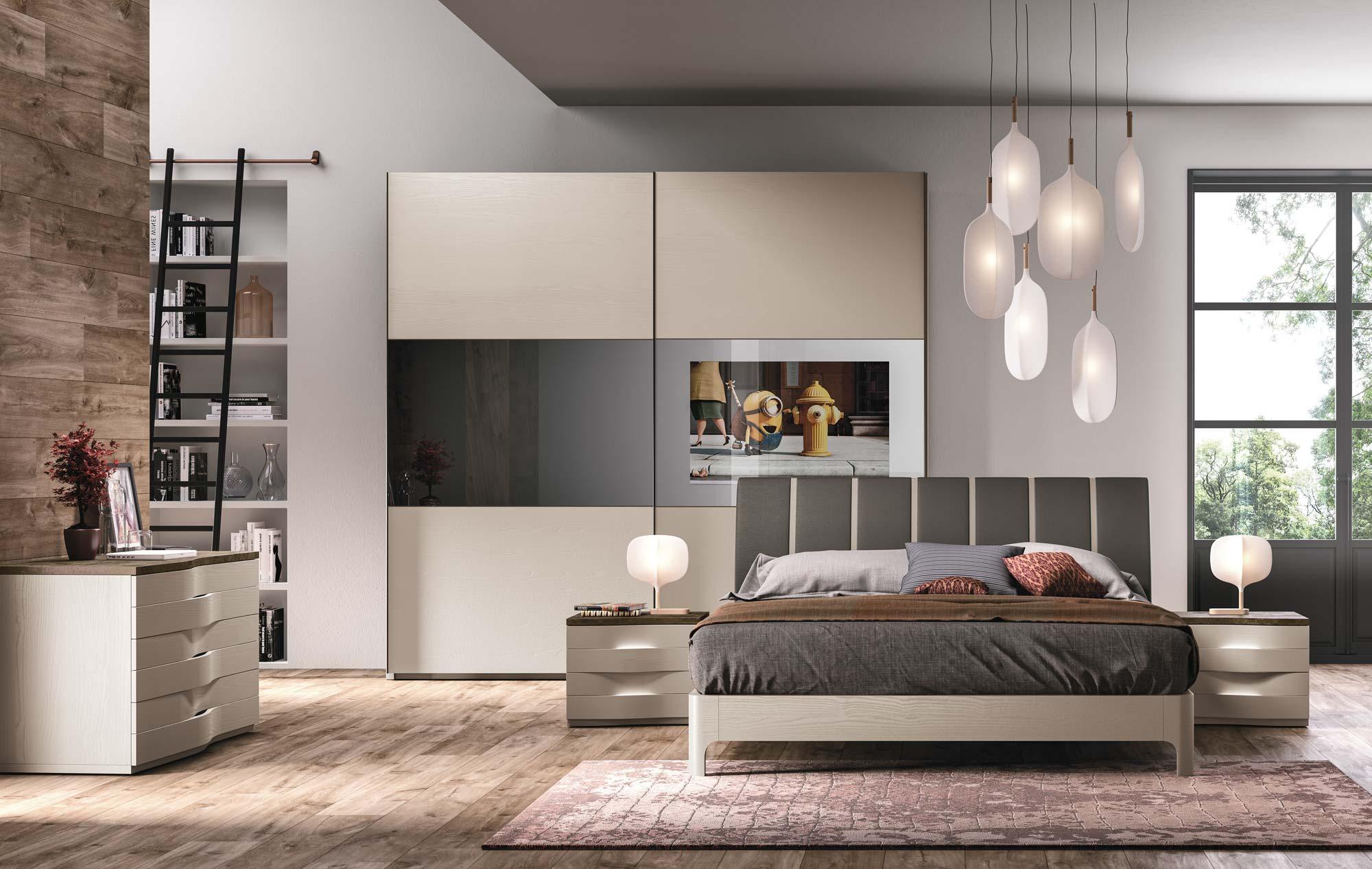Camera materya 2 smart tv paoletti mobili for Camere da letto