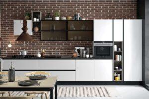cucina moderna, cucina industrial
