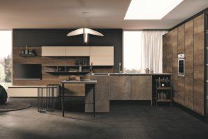 cucina living, cucina moderna, cucina con penisola