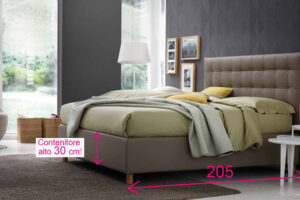 letto contenitore moderno, letto contenitore capitonnè